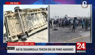 Paro agrario: así quedó ambulancia incinerada por manifestantes