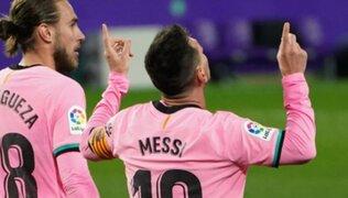 ¿Nuevo rey? Messi batió récord de Pelé al marcar en victoria ante Valladolid
