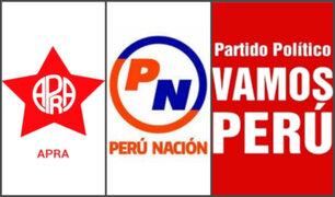 Elecciones 2021: Apra, Perú Nación y Vamos Perú no presentaron candidatos al Congreso