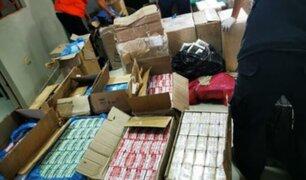Chiclayo: PNP incauta más de 400 mil cigarrillos de dudosa procedencia