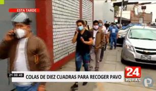 Largas colas para recoger pavos se registraron en diversos distritos de Lima