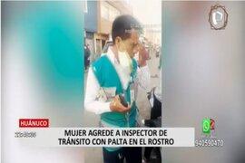 Huánuco: Mujer golpea a inspector de tránsito por intervenir a motociclista