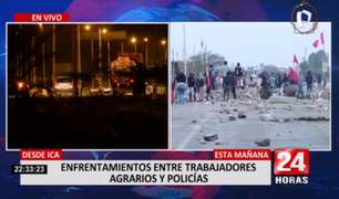 Desde Ica: se registraron enfrentamientos entre trabajadores agrarios y policías