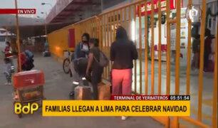 Terminal Yerbateros: familias llegan a Lima para celebrar NocheBuena