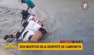 La Libertad: despiste de auto dejó dos desaparecidos y dos muertos