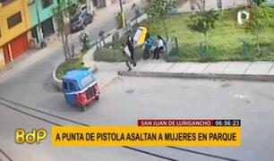 SJL: tres jóvenes fueron asaltadas mientras conversaban en parque