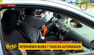 Navidad: ATU interviene buses y taxis no autorizados