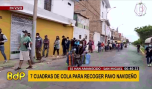 San Miguel: Cientos de personas forman enormes colas por pavo navideño