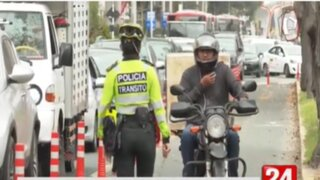 Jesús María: Motociclistas fueron multados con 358 soles por invadir ciclovías