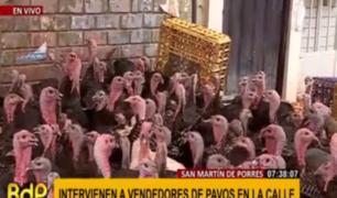 SMP: intervienen a vendedores de pavos vivos en plena vía pública