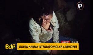 Juliaca: casi queman vivo a sujeto acusado de intentar violar sexualmente a dos niños