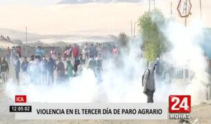 Paro agrario: manifestantes intentan controlar nuevamente la Panamericana Norte y Sur