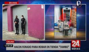 Callao: delincuentes hacen forado en tienda para robar cajero automático