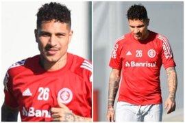 Paolo Guerrero reapareció en los entrenamientos de Inter de Porto Alegre