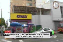 Callao: hallan herramientas que ladrones habrían usado para hacer forado y robar cajero
