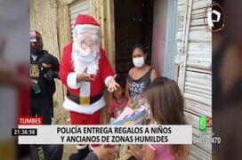 Agentes PNP alegraron a la población con shows navideños en diversas partes del país