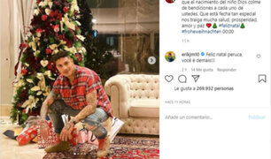 Farfán, Guerrero, Lapadula entre otros futbolistas compartieron postales por Navidad