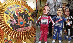 Año Nuevo: muñecos de Merino y Vizcarra  son los más solicitados para despedir el 2020