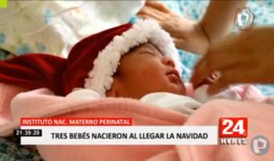 Tres bebés nacieron al llegar la Navidad en Perú