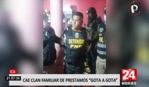 """ICA: cae clan familiar que se dedicaba al préstamo bajo la modalidad """"gota a gota"""""""