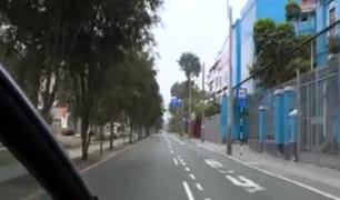Calles vacías tras prohibición del tránsito de autos particulares