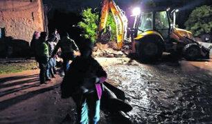 Jauja: río se desborda e inunda más de 80 viviendas en plena Navidad