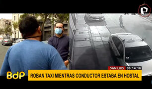 San Luis: delincuentes roban vehículo a taxista mientras descansaba