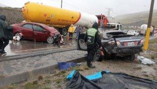 Tragedia en La Oroya: 5 muertos tras choque entre dos vehículos