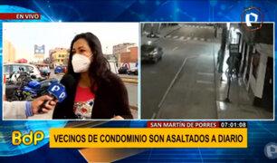 SMP: vecinos de condominio denuncian que son asaltados a diario