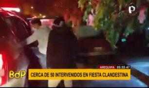 Arequipa: PNP intervino a 50 personas en fiesta clandestina