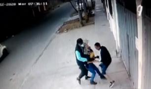 SJM: a ladrillazos rescatan a vecina que era asaltada por 'raqueteros'