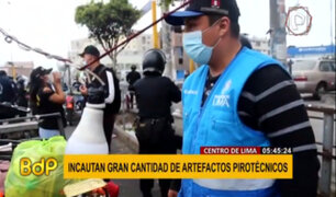 Cercado de Lima: incautan gran cantidad de artefactos pirotécnicos