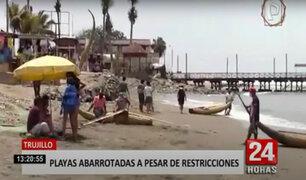 Bañistas abarrotaron playas de Huanchaco y Huanchaquito en Trujillo
