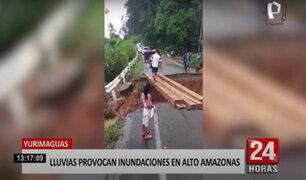 Yurimaguas: lluvias torrenciales provocan derrumbe en carretera