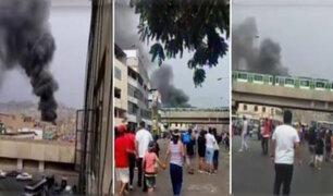 La Victoria: reportan incendio en avenida Aviación con 28 de Julio