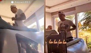 Paolo Guerrero usa máquina antigravedad para su proceso de recuperación de lesión