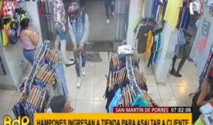 SMP: ladrones armados irrumpen en botique para asaltar a cliente