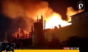 Piura: gran incendio causó alarma en zona industrial de Sullana