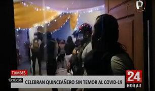 Más de 30 adultos y menores celebraron quinceañero, pese a aumento de casos en Tumbes