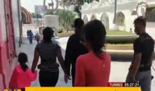 Tumbes: vecinos y policías rescatan a familia que era víctima de violencia doméstica