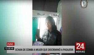"""Pasajeros de combi echan del vehículo a una mujer por discriminar a otra porque """"olía mal"""""""