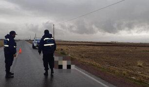 Cadáver semidesnudo de una joven fue hallado en una carretera de Juliaca