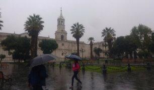 Senamhi: Arequipa soportará lluvias intensas en las próximas horas