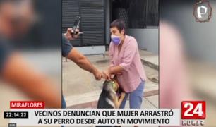 Miraflores: mujer es acusada de arrastrar a su perro desde un auto en movimiento