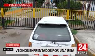 Si te afecta es noticia: vecinos enfrentados por una reja en Chorrillos