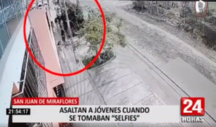 "SJM: asaltan a jóvenes cuando se tomaban ""selfies"""