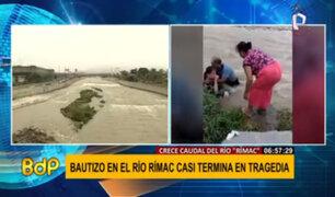 Río Rímac: dos personas que participaban en bautizo casi se ahogan
