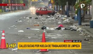 Calles del Callao se encuentran sucias por huelga de trabajadores de limpieza