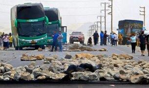 Paro agrario: manifestantes volvieron a bloquear la Panamericana Norte en La Libertad