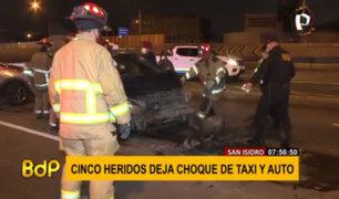 San Isidro: accidente de tránsito dejó cinco heridos